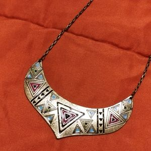 Antique Gold Bib Necklace